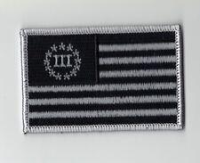 Biker Militia 3% Percent American US Flag Patch (3.5 x 2.0)