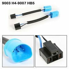 2x 9003 H4 Male to 9007 HB5 LED Headlight Female Socket Harness Adapter Replace
