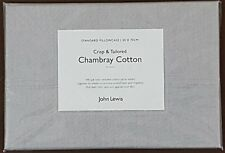 John Lewis Crisp & Tailored Chambray Cotton Standard Pillowcase 50 x 75cm