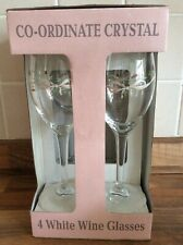 "More details for eternal beau rare shaped wine glass x 4 new original box 8"" tall"