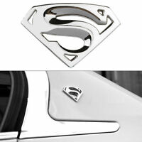 3D Superman chrome métal auto moto logo autocollant badge emblème