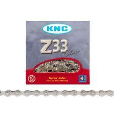 "KMC Z33 Silver 5/6-Speed 1/2"" x 3/32"" Non-Index Road/MTB Bike Chain 116L Z33NP"