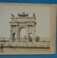 1860s Italy Stereoview Photo Milan Milano Arco Della Pace Porta Sempione Italia