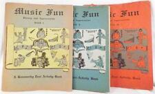 Music Fun Theory & Appreciation Books Children Vintage 1-3 Text Activity 1940