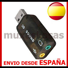 ADAPTADOR USB 2.0 DE AUDIO 5.1 TARJETA SONIDO for WINDOWS 7 MAC VIRTUAL DJ VISTA