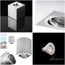 LED Halogen Deckenlampe Würfelleuchte Aufbauleuchte Aluminium Strahler Spotgu10