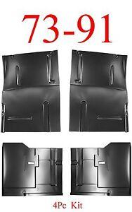 4Pc 73 91 Chevy Blazer Front & Rear Large Floor Pan Kit, GMC Jimmy
