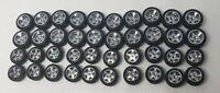 Hot wheels lot of 10 custom tires for  ferrari 599xx no axles