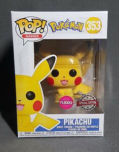 ⭐Funko Pop! Vinyl - Pokemon - Pikachu FLOCKED #353⭐
