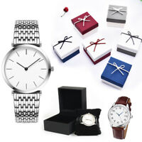 Present Gift Boxes Case For Bangle Jewelry Ring Earrings Wrist Watch Box Durable