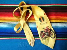 ✺Vintage✺ 1950 TRIUMPH MOTORCYCLES Hand Painted Tie Harley-Davidson