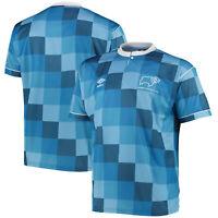 Kitbag Derby County 1988 Umbro Away Football Summer Sport Tee T-Shirt Top Shirt