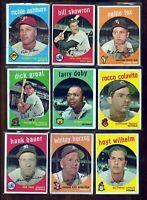 1959 Topps Baseball Cards - Stars and HOFers