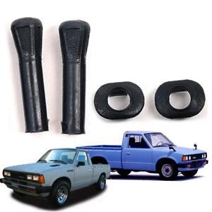 Fit 1985–1986 Nissan Datsun 720 Pickup Truck Door Lock Knob & Surround Black