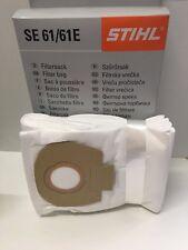 Sacco Sacchetto Filtro Aspirapolvere STIHL SE 61 62 E conf. 5pz ORIGINALE