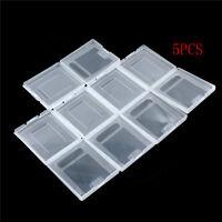 5Pxs Clear Plastic Game Cartridge Case Staubschutzhülle für Game Boy GB GBC GHEN