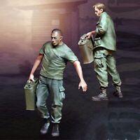 █ 1/35 Resin Vietnam War US 2 Soldiers Working unpainted unassembled BL241