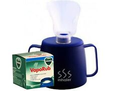 Medisure Steam Inhaler Cup with Vicks Vapour Rub 50g - Relieve Nasal Congestion