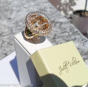 Ring vergoldet Kristalle Modeschmuck Judith Williams  Gr. 19 (60)