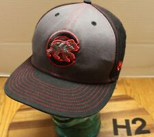 NEW ERA CHICAGO CUBS ALTERNATE LOGO HAT BLACK/GRAY EMBROIDERED SNAPBACK VGC H2