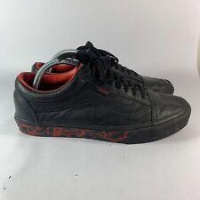 Rare Vans Slayer Raining Blood Shoes Mens Black Leather Size 10 Heavy Metal