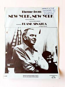 "FRANK SINATRA - Sheet Music ""New York New York"""
