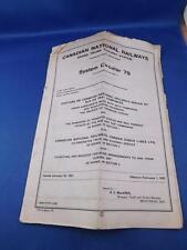 CANADIAN NATIONAL RAILWAYS GRAND TRUNK RAILWAY SYSTEM SYSTEM CIRCULAR 79 1963
