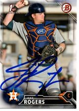 Jake Rogers Houston Astros 2016 Bowman Rookie Signed Card