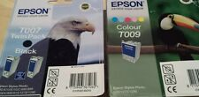 T007 x 2 & T009 x 1 Epson Black & Colour Ink Cartridges Genuine 3 in Total