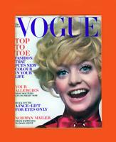 VOGUE-AUGUST 15,1969-GOLDIE HAWN-CHER-RAQUEL WELCH-ALI MCGRAW-THE WHO-N MAILER