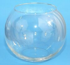 "Large Glass Fish Bowl Display Bowl Clear Round 8"" Tall 8.5"" Diameter EUC"