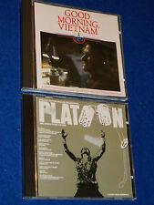 LOT 2 CD GUERRE du Good Morning Vietnam & PLATOON atlantic 781 742-2 war