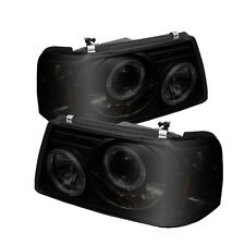Ford 01-11 Ranger Black Smoke Dual Halo LED Projector Headlights XL XLT FX4 STX