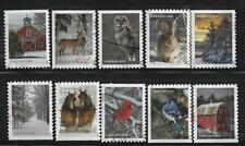 US NEW 2020 WINTER SCENES SET of 10 USED OFF PAPER SOUND CHRISTMAS