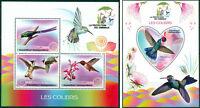 Hummingbirds Birds Fauna Madagascar MNH stamp set ODD SHAPE