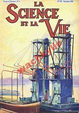 Science et vie n°197 du 11/1933 Barrage Marine moteur Diesel Guerre chimique