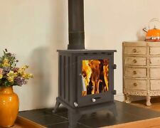 Woodburner Cast Iron Log Burner Multifuel Wood Burning Stove Fireplace 5KW CR-A5