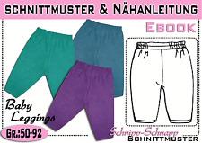 Baby Leggings /Strampelhose pdf.Schnittmuster und Nähanleitung  Gr.:56-92