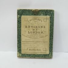 Vintage Cruchley's Environs of London Extending Foldaway Map Thirty Miles 1827