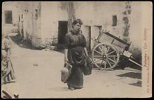 cartolina costumi siciliani DONNA ALL'ACQUA