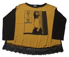 Cataleya LM568 Maglia T-Shirt Donna Nero tg XL |- 57% OCCASIONE |