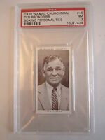 1938 TED BROADRIBB BOXING CHURCHMAN PSA GRADED 7 NEAR - MINT CARD