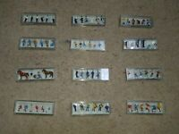 HO 1:87 similar to OO Gauge PREISER Figures People Men women Children Various