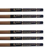 LOT OF 6 PCS JORDANA Easyliner For Eyes Retractable Pencil Denim Blue NEW SEALED