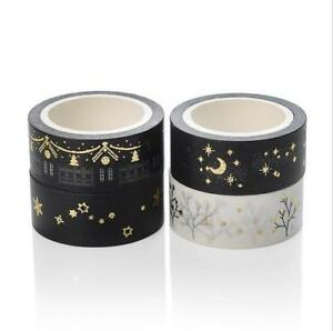 Bronzing Washi Tape decoration Scrapbooking Crafts DIY Gift wrapping Sticker 5M