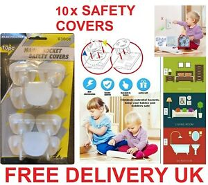 10x Electrical PLUG Socket Protector CHILD BABY Shock Safety Main Cover 3 Pin UK