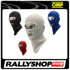 KK03005 OMP Karting Open Face Balaclava Adult One Size Cotton Knit in 4 Colours Blue