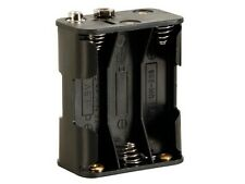 Velleman BH363B BATTERY HOLDER FOR 6 x AA-CELL (WITH SNAP TERMINALS)