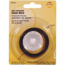 100 Pk Hillman 24 Ga X 100' Black Annealed Steel General Purpose Wire 123122