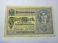 Darlehenskassenschein 5 Mark 1917. Los 4625. schoeniger-notgeld.de